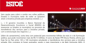 Reportagem - IstoÉ - Futuro do Mercado de PPPs