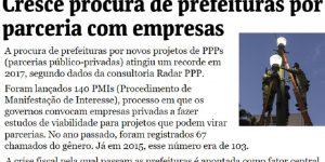 Reportagem - Folha de São Paulo - Mercado de PPPs em 2017