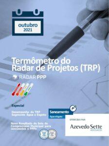 Termômetro do Radar de Projetos - Água e Esgoto - outubro de 2021