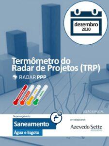 Termômetro do Radar de Projetos - Dezembro de 2020 - Segmento Água e Esgoto