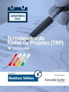 Termômetro do Radar de Projetos - Resíduos Sólidos - setembro de 2021