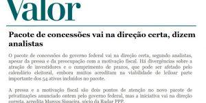 Reportagem - Valor Econômico - Pacote de Concessões